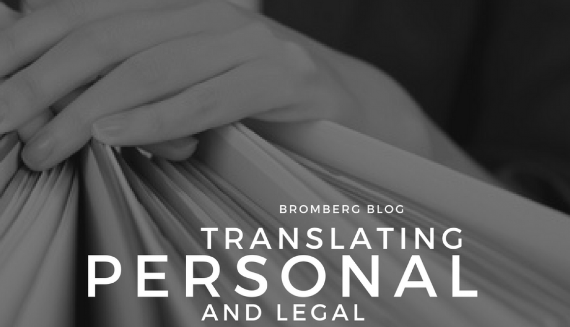 Translating Personal and Legal Documents