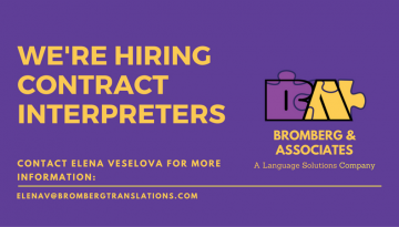 We're Hiring contract interpreters (1)