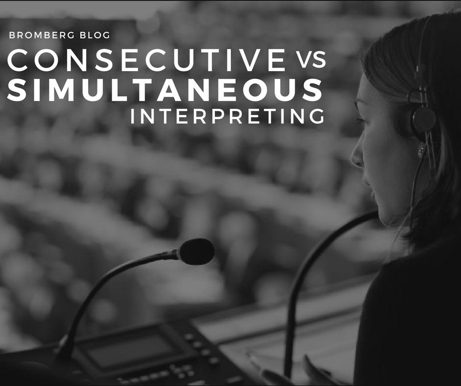 Consecutive vs. Simultaneous Interpreting