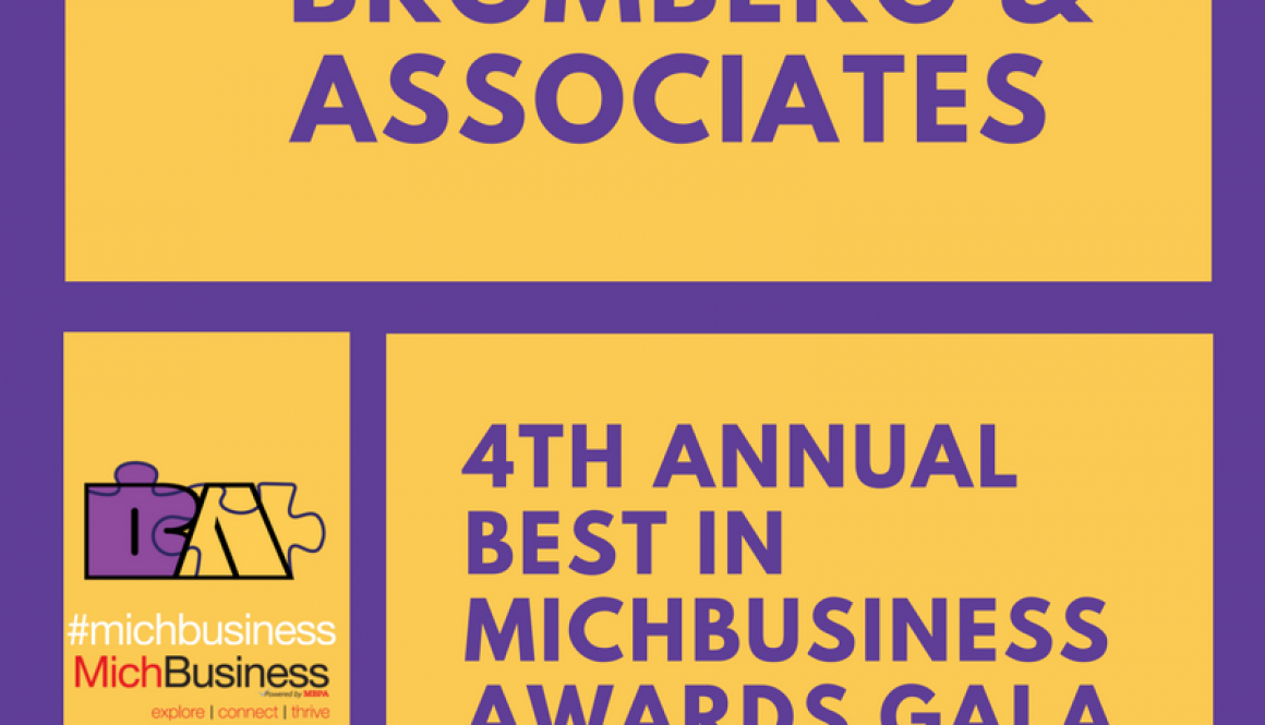 Bromberg & Associates to be honored at the 4th annual Best of MichBusiness Award Gala