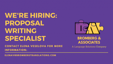 We're Hiring: Bilingual Proposal Writing Specialist
