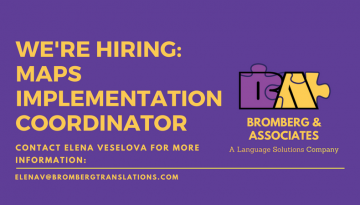 We're Hiring: Bilingual Multicultural Awareness Programs (MAPS) Implementation Coordinator