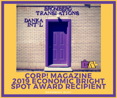 Corp! Magazine 2019 Economic Bright Spot Award Recipient