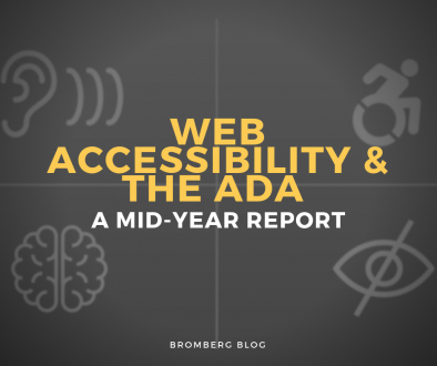 Web Accessibility & The ADA: A Mid-Year Report