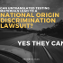 Can untranslated testing materials lead to a national origin discrimination lawsuit?